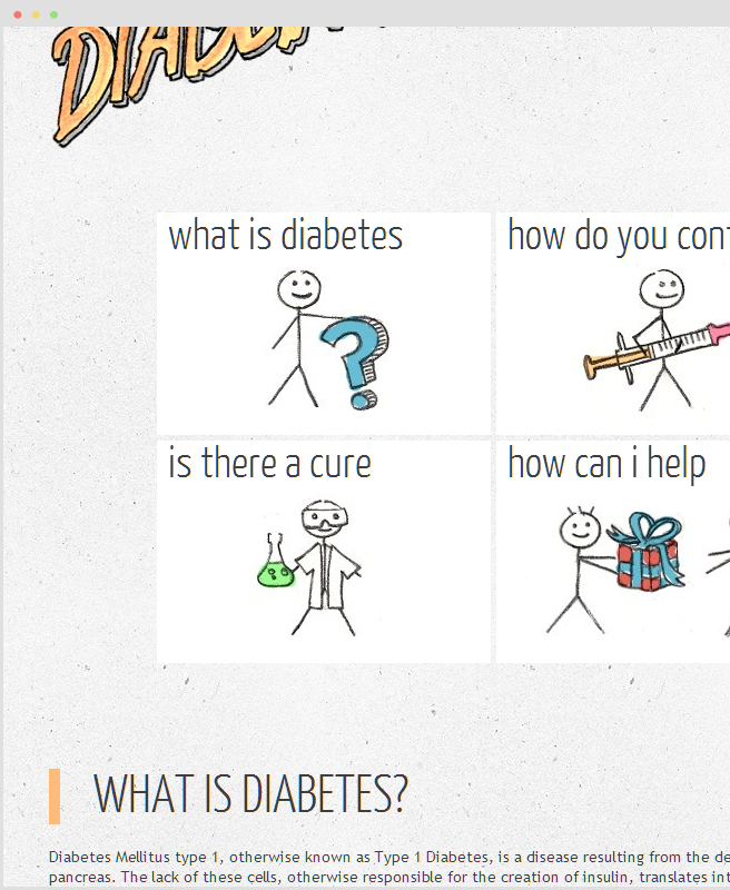 LetsCureDiabetes homepage